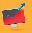 Monitor Graph Stock Market Up vector image