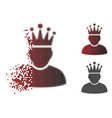 moving dot halftone king icon vector image vector image