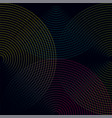 multicolored lines concentric colorful vector image
