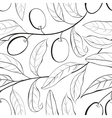 Olive seamless pattern vector image vector image