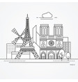 paris france vector image vector image