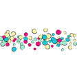 polka dot background with comic pop art confetti vector image vector image
