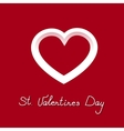 pretty icon white heart for valentines day vector image vector image