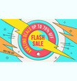 retro-futuristic sales background banner vector image vector image