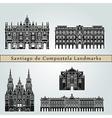 Santiago de Compostela landmarks and monuments vector image vector image