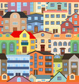 seamless background with city vector image vector image