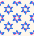 seamless pattern with six-pointed stars vector image