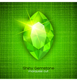 Shiny emerald on textured background vector image vector image
