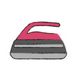 smoothing iron isolated vector image