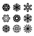 Snowflakes icon collection vector image vector image
