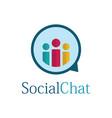 social chat bubble logo vector image vector image