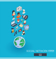society integrated 3d web icons growth and vector image vector image