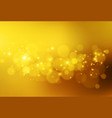 soft golden lights abstract bokeh vector image