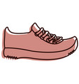 sport shoes tennis icon vector image vector image