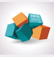ssign of 3d cubes structure vector image vector image