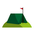 tent on grass icon image vector image