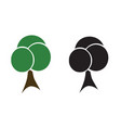 two trees - ecology concept vector image