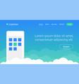 website header template design with smartphone vector image vector image