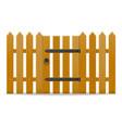 wooden fence with wicket door vector image