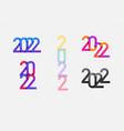 2022 happy new year logo text design vector image