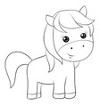 a children coloring bookpage a cartoon horse vector image