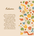 abstract autumn decorative background vector image