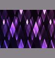 amethyst fractal crystal shine abstract vector image vector image