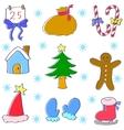 art of christmas set vector image vector image