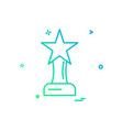 award prize star trophy trophy winner icon design vector image
