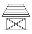 Barn for animals icon outline style vector image vector image