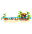 beach bar panama travel palm drink summer vector image vector image