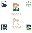 bloom symbol vector image