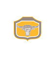 Bull Head Snorting Shield Retro vector image vector image