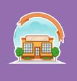 cafe shop or restaurant building cartoon vector image