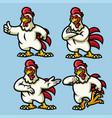 chicken mascot vector image vector image