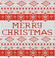 Christmas warm knitted sweater pattern of white vector image