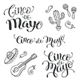 Cinco de mayo phrases vector image