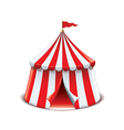 circus tent isolated vector image vector image