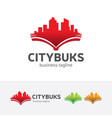 city books logo design vector image vector image