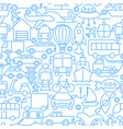 city transport line seamless pattern vector image