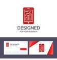 creative business card and logo template graph vector image vector image