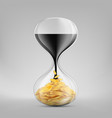 crude fossil oil in sandglass vector image vector image