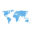 detail world map - blue isolated design vector image