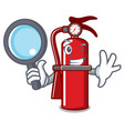detective fire extinguisher character cartoon vector image