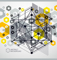 engineering technology yellow wallpaper made with vector image vector image