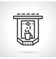 Espresso machine simple line icon vector image