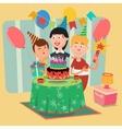 Family Birthday Party Happy Family Celebrating vector image vector image