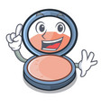 finger blush is isolated with the cartoons vector image