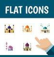 flat icon building set of architecture vector image vector image