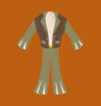 flat shading style icon clothes mens suit vector image vector image